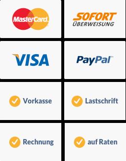 Sichere Zahlungsarten