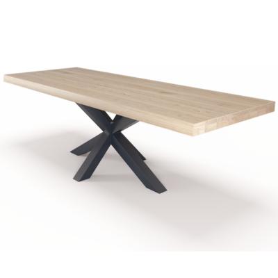 massivholztisch-eiche-280x100cm-matrix-gestell-stahl-hell